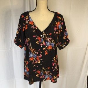 NWT floral button up
